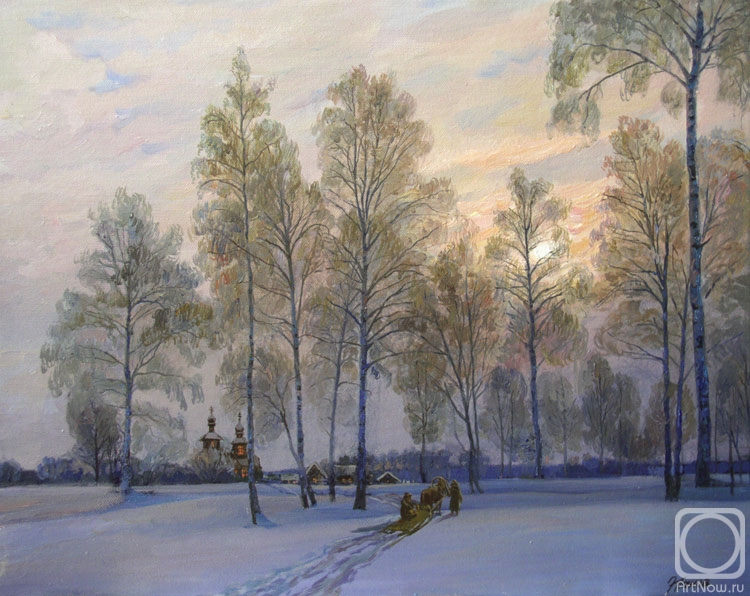 Панов Эдуард. Владимир зимой