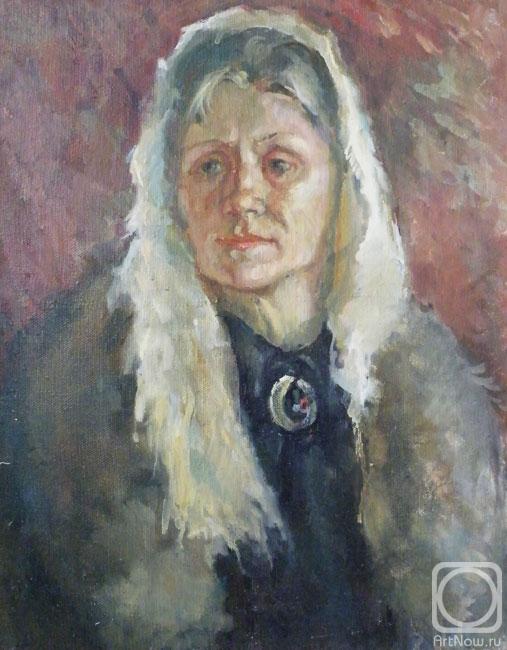 Портрет женщины в пуховом платке
