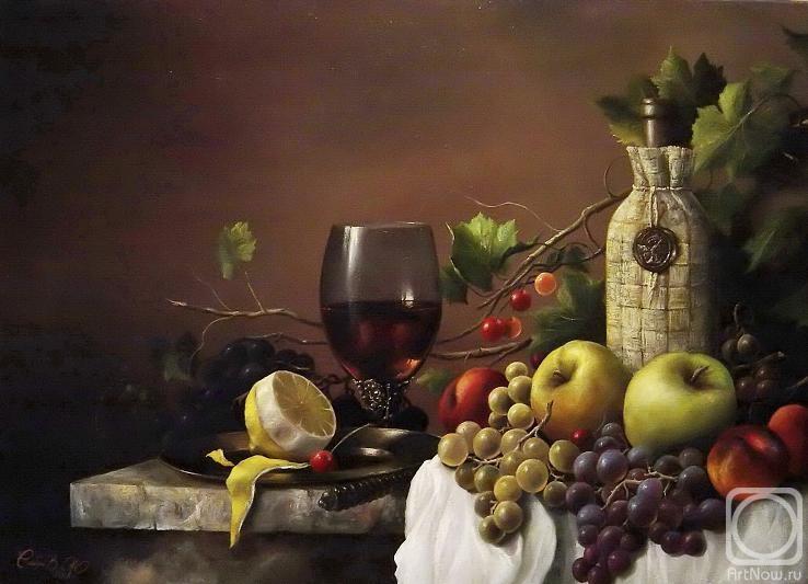 натюрморт с фруктами рисунок: