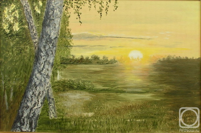 Восход солнца вышивка