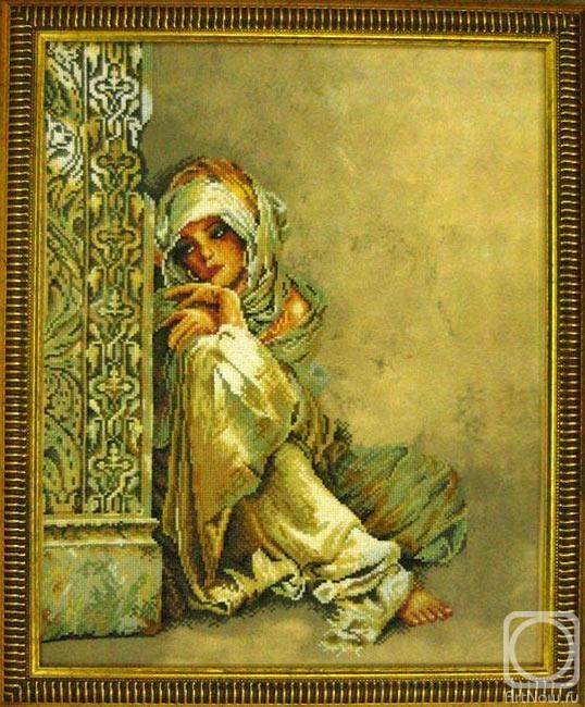 Набор вышивки крестом девушка 919