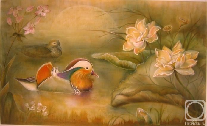 Пара уток мандаринок- символ семейного счастья.  Предыдущая работа.