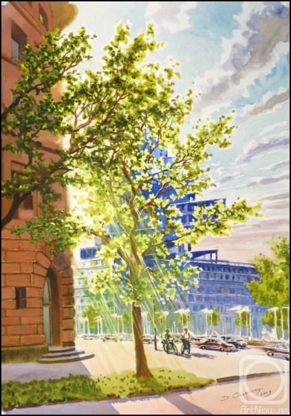 Картины художника весна в городе