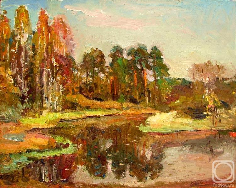 Zamaleev Talgat. River Vyun in September.