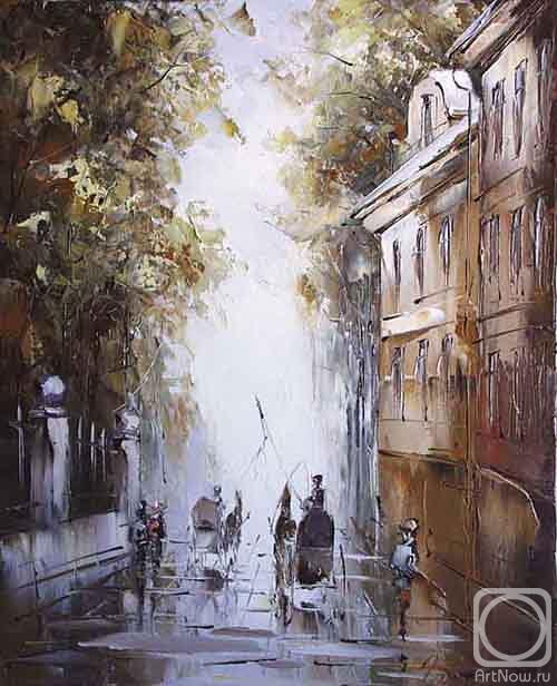 Картины художника летний город