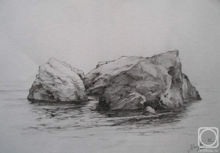 Камни карандашом