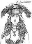 Амазонка в ритуальном головном уборе