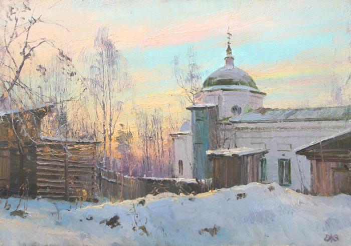 Ефремов Алексей. Морозное утро. Кудымкар