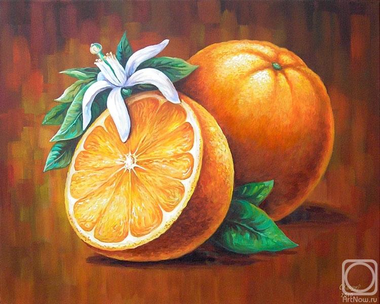 Когда думала над композицией, нашла случайно фотографию цветущего апельсина.  Я и не думала, что они так красиво...
