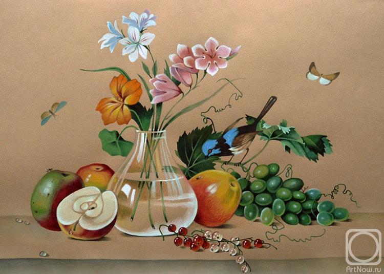 Белова Ася. Цветы,фрукты,птица