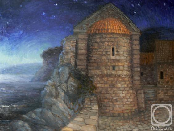 Малюсова Татьяна. Старый город Будвы ночью