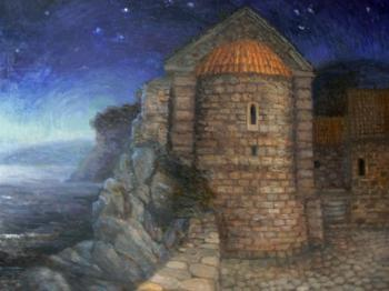 Malyusova Tatiana. Old town Budva at night