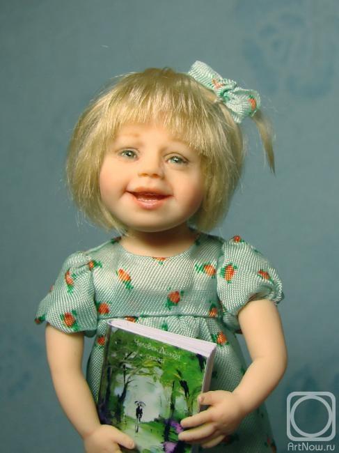Маковская Галина. юленька(портретная кукла)