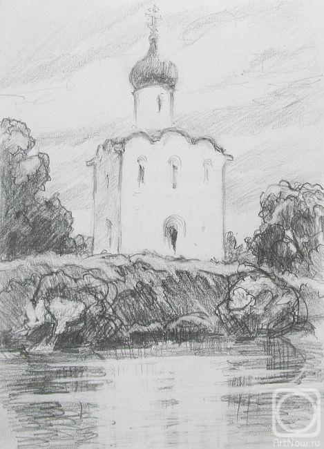 покровской рисунок церкви карандашом