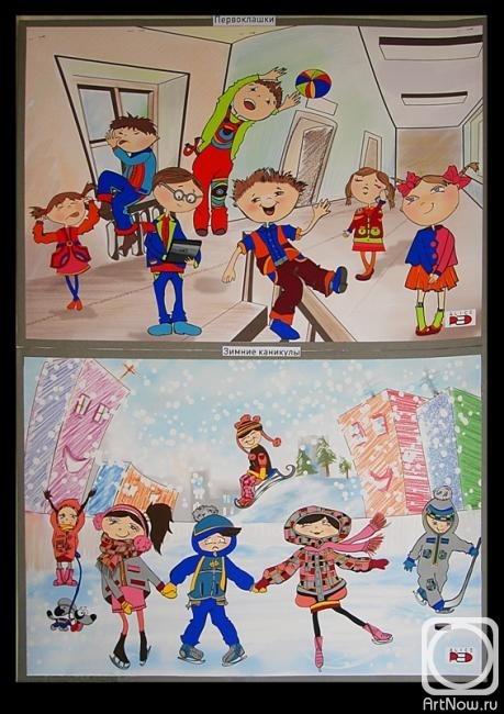 Эскизы моделей одежды для детей (566x800