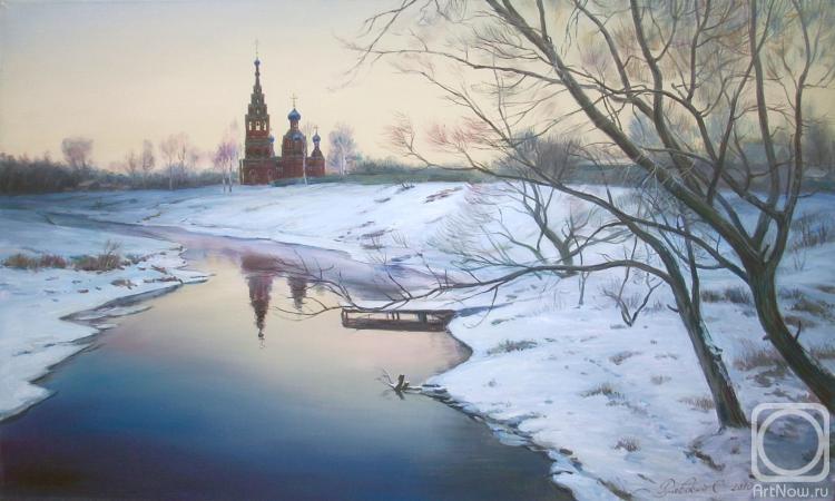 Подмосковье зима на реке клязьма