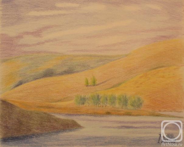 Ремни Изменяемой рисунок горы цветными карандашами поэтапно подглядывает домашним