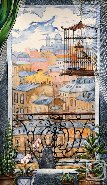 Каминская Мария. Окно. Париж