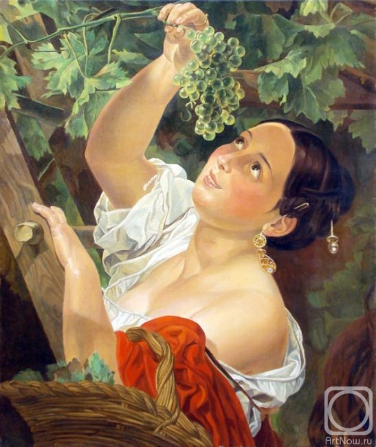 картина голая девушка с виноградом автор