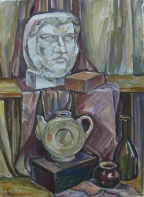 The still-life with Plaster head. Ibragimova Nataly
