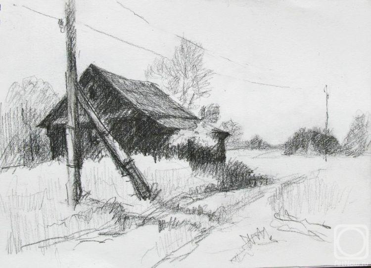 Рисунок заброшенного