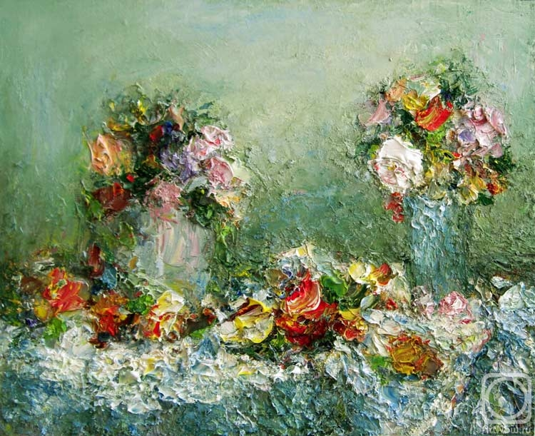 Фрукты цветы маслом