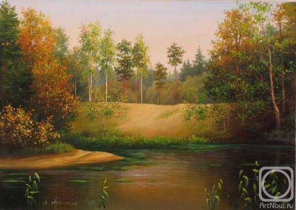 Картинки картин осенний лес