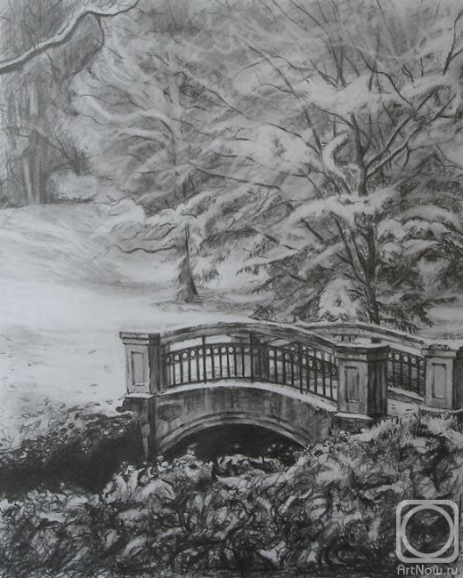 рисунки леса карандашом: