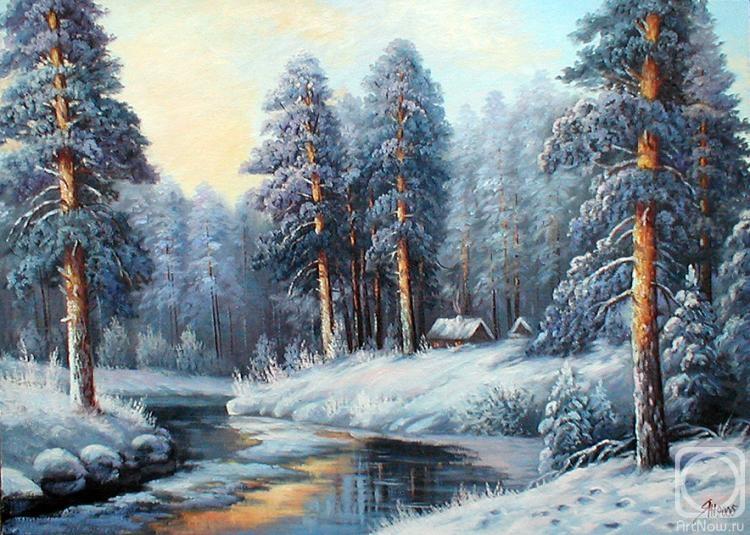 Картины художника зимний пейзаж