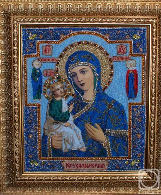 Икона божией матери иерусалимская вышивка 26