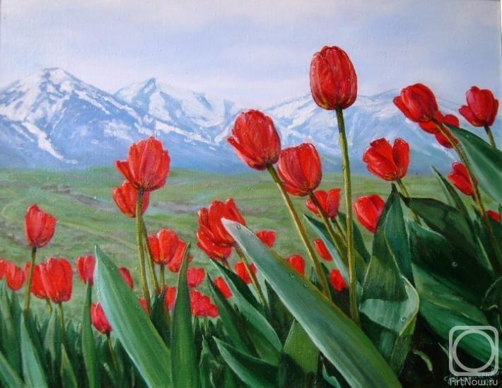тюльпаны картины маслом: