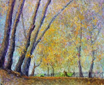 Konturiev Vaycheslav. Autumn on the boulevard