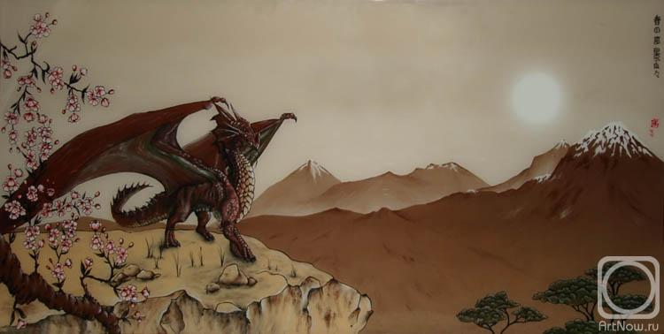 Жариков Андрей. Весенний пейзаж..с драконом