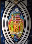 Город Голубого Цветка (фрагмент витражного панно 2)