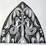 Эскизы к росписи по стеклу I