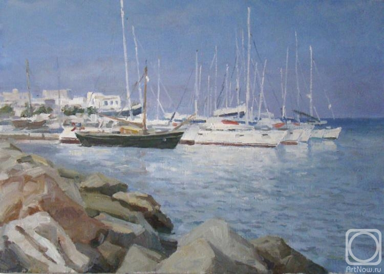Rubinsky Pavel. Greece, Paros Island. At a mooring
