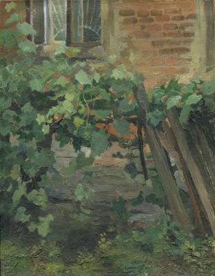 Chernov Denis. Sketch. At the Kharkov ART College Courtyard