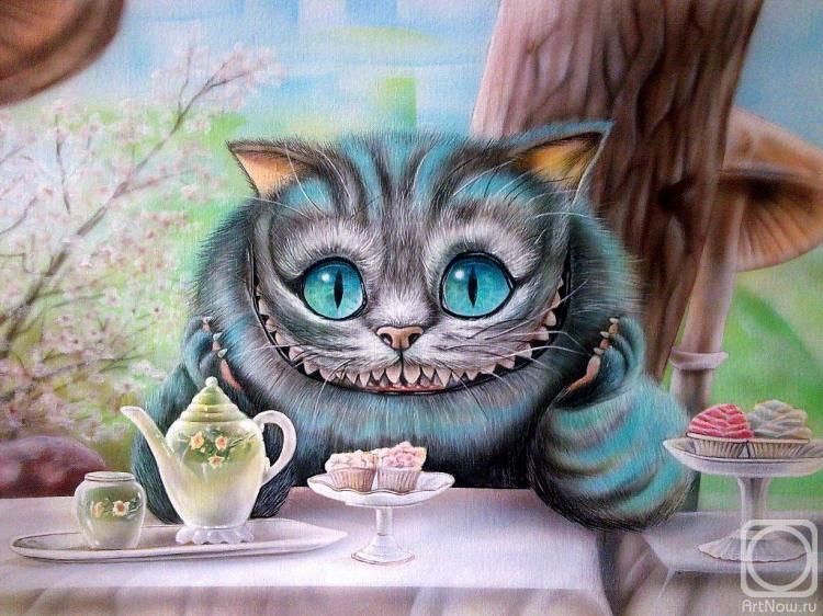 Лучшие пожелания, открытки с чеширским котом