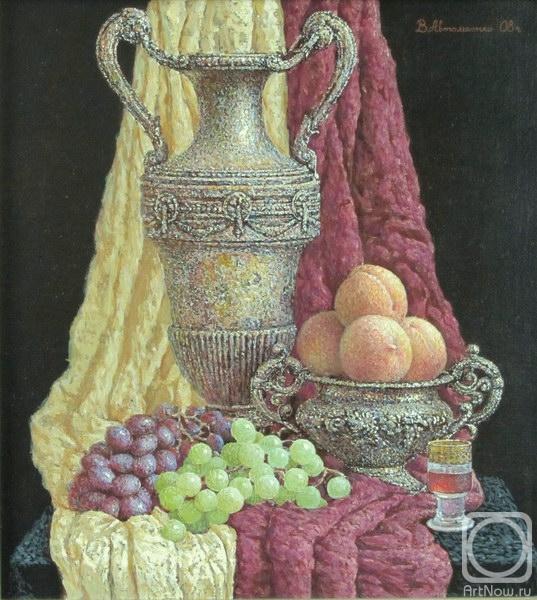Автомеенко Валерий. Натюрморт с персиками.