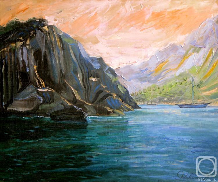 Море и горы картинки живопись