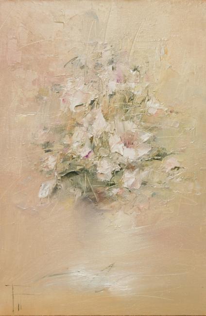 Картины художника білі квіти