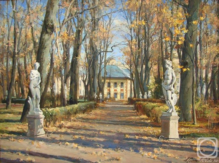 Картины художника летний сад