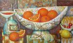 Сулимов Александр. Натюрморт с апельсинами