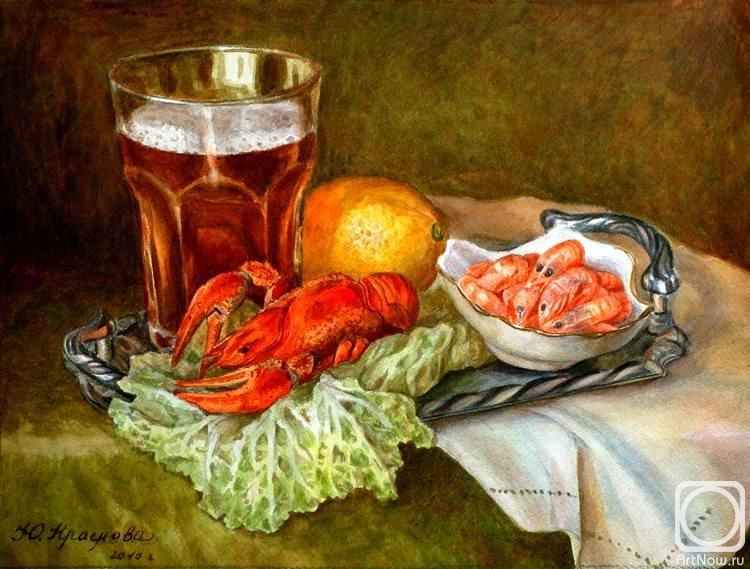 Краснова Юлия. Натюрморт с пивом