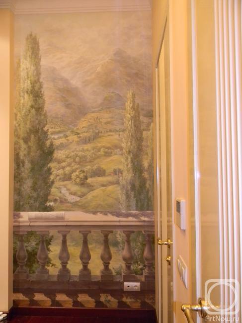 """Роспись """"вид с балкона"""". работы автора. масейкина анна ивано."""