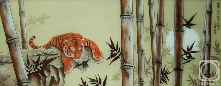 Жариков Андрей. Молодой тигр в бамбуке