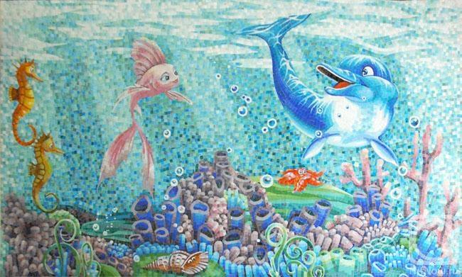 Студия мозаики. Морское дно