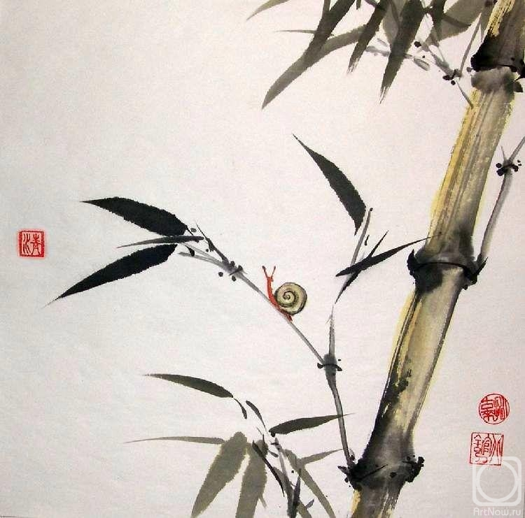 китайская живопись тушью:
