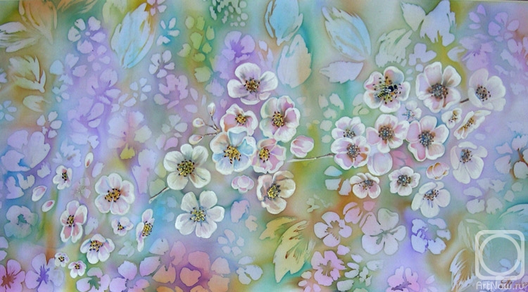 фирменный стиль яблони в цвету батик картинки фотографии