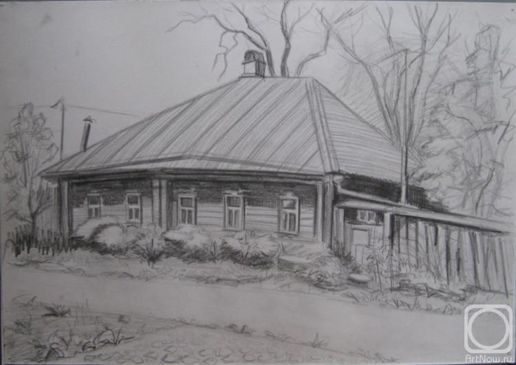 рисунок пейзаж домов карандашом фото речь